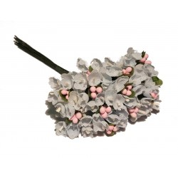 Silk Flowers Embellishment - Blue