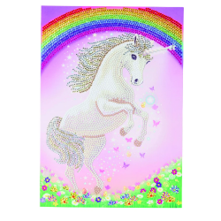 "Crystal Card Kit Giant  ""Unicorn Rainbow"""