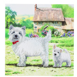 Crystal Card Kit - Westie dogs