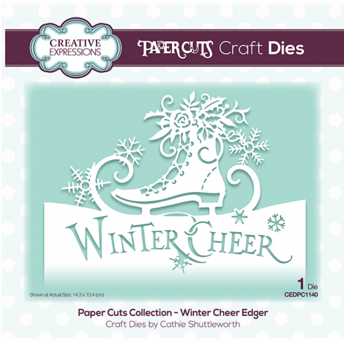 Creative Expressions Paper Cuts Winter Cheer Edger Craft Die