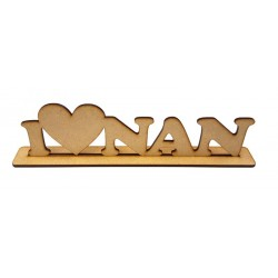 I Heart Nan Wooden Sentiment