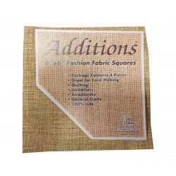 "Additions 6"" x 6"" Fashion Fabric Squares - Pack of 4 Dark 100% Jute"