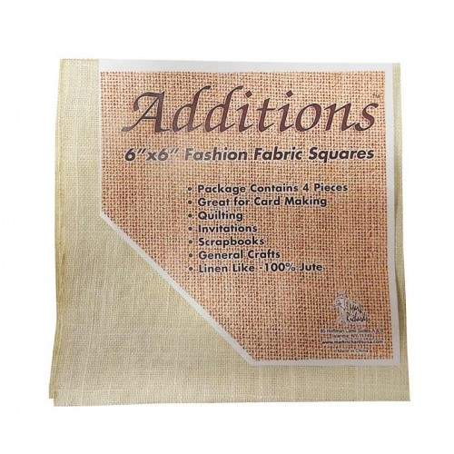 """Additions 6"""" x 6"""" Fashion Fabric Squares - Pack of 4 Linen Like"""
