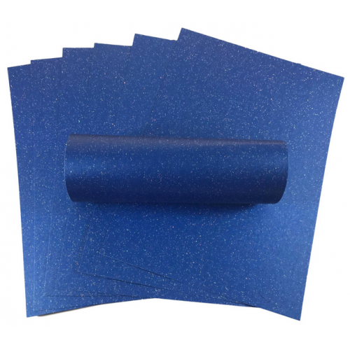 A4 Yale Blue Iridescent Sparkle Card Quality 300gsm