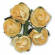 Tea Roses - Yellow & Ivory - Bunch of 12