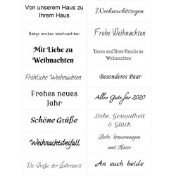 Easy Peel Self Adhesive German Christmas Sentiments by Essential Crafts
