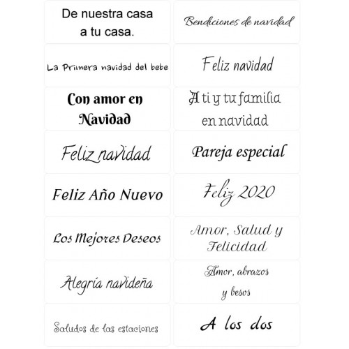 Easy Peel Self Adhesive Spanish Christmas Sentiments 3 by Essential Crafts