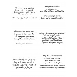Easy Peel Self Adhesive Christmas Verses 3 by Essential Crafts