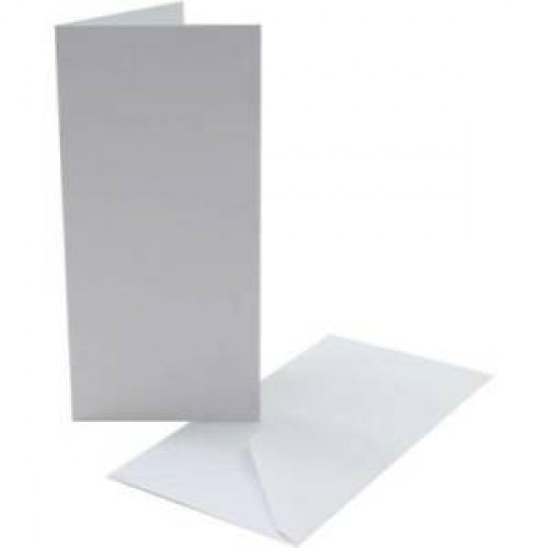 DL White Cards and Envelopes Pack of 5
