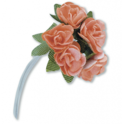 Tea Roses Mini - Peach - Bunch of 12