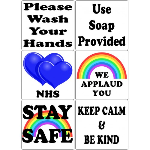 Easy Peel Self Adhesive Stay Safe Quotes by Essential Crafts