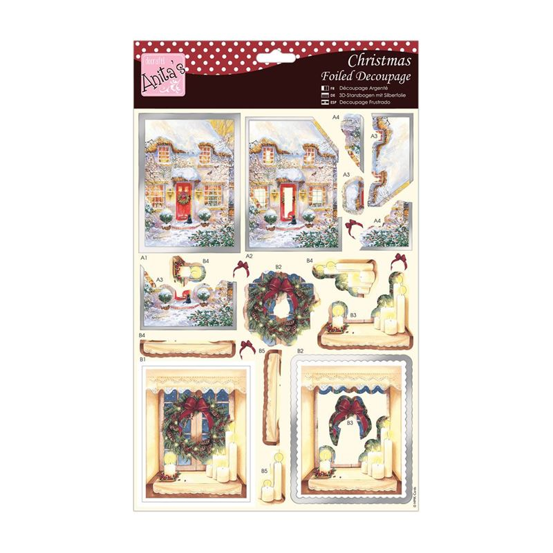 Cosy Christmas  Anita39;s Foiled Christmas DieCut Decoupage