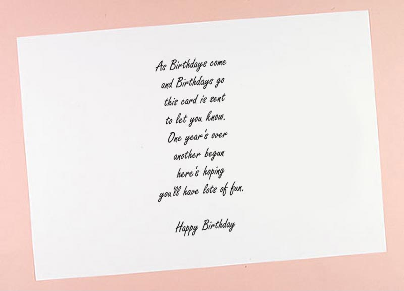 6x6 7x7 8x8 Birthday Verses 2 Card Inserts Pack Of 10