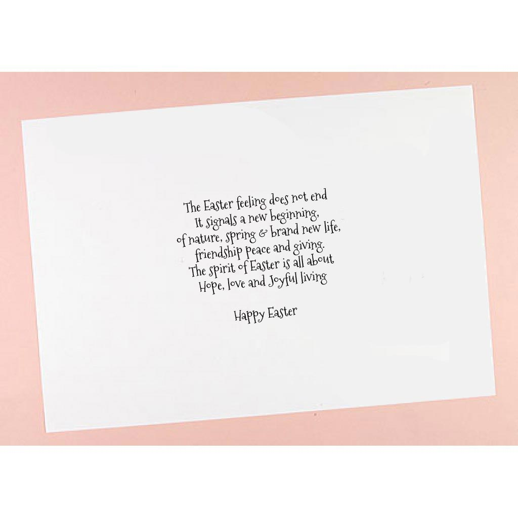 6x6 7x7 8x8 Easter Verses Card Inserts Pack of 10 – Easter Verses for Cards