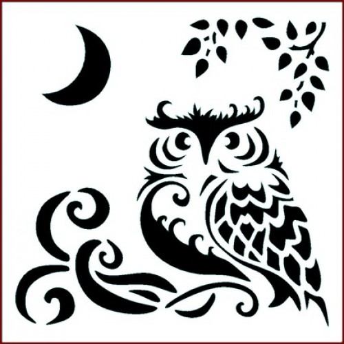 Imagination Crafts Moonlight Owl Stencil